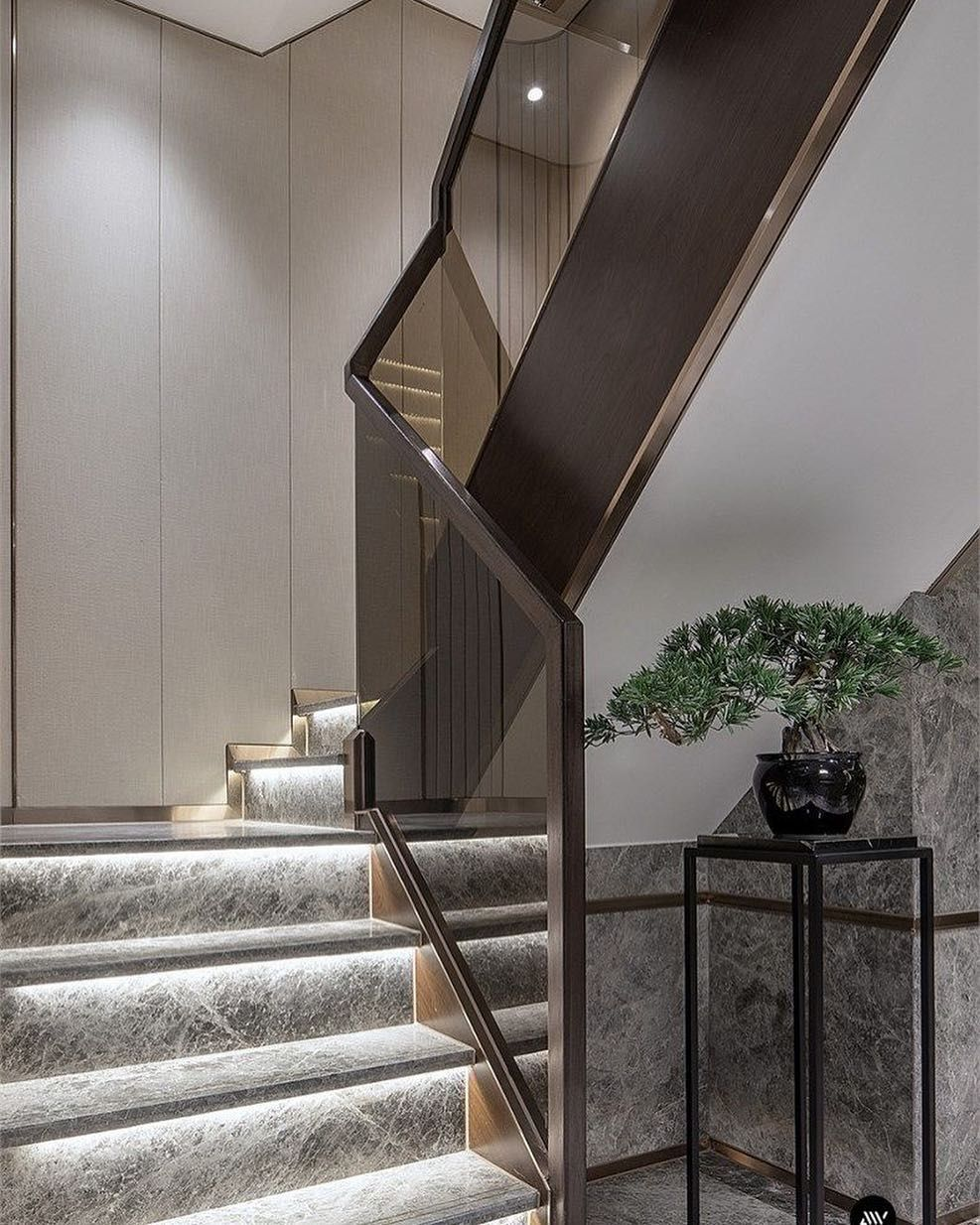 Pin By Pamela Morris On Gold Living Room Decor In 2020 Modern Staircase Stairway Design Stairs Design Modern