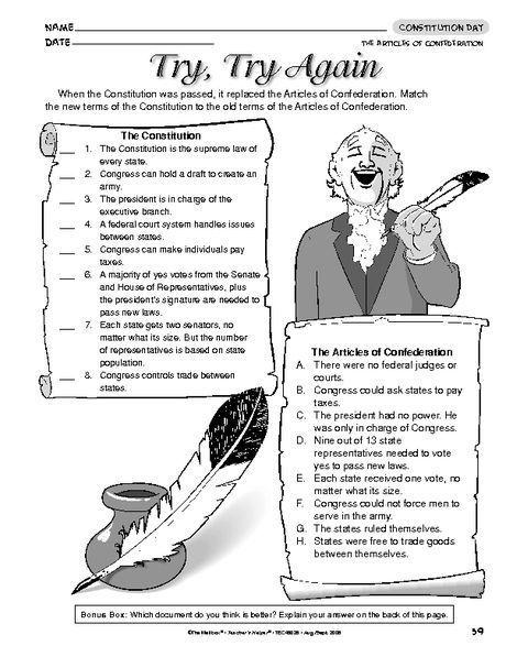 Articles Of Confederation Vs Constitution Social Studies Social Studies Middle School 4th Grade Social Studies