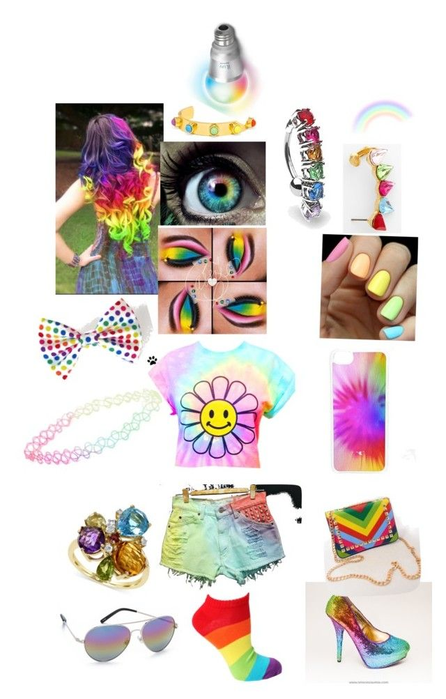 """""""Rainbow day!!!"""" by stephanie-lemelime ❤ liked on Polyvore featuring Bling Jewelry, Levi's, BaubleBar, Cara, With Love From CA, iLuv, CellPowerCases, Effy Jewelry, Matthew Williamson and Monday"""
