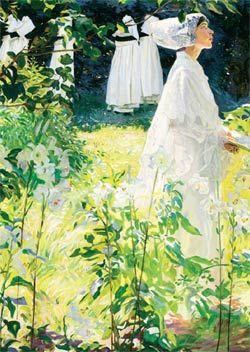 A Convent Garden, William Leech