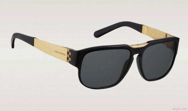 e74d1334bdb6a Gafas de sol de lujo con montura dorada