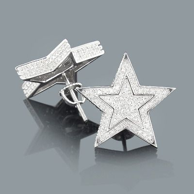 These Diamond Star Earrings In Sterling Silver Showcase 0 20 Carats Of Genuine Diamonds And Back Closures For Secure Wear