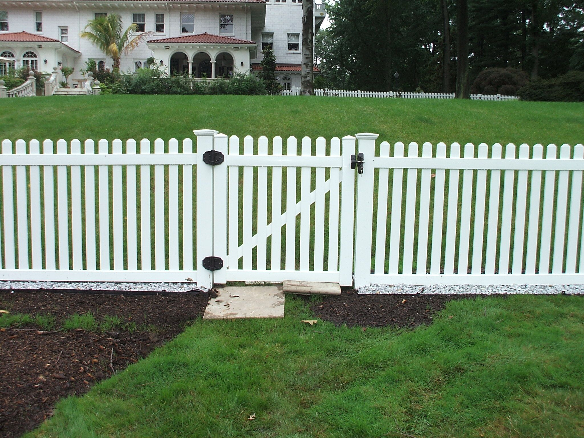 With a Contemporary Picket White PVC fence you don't have