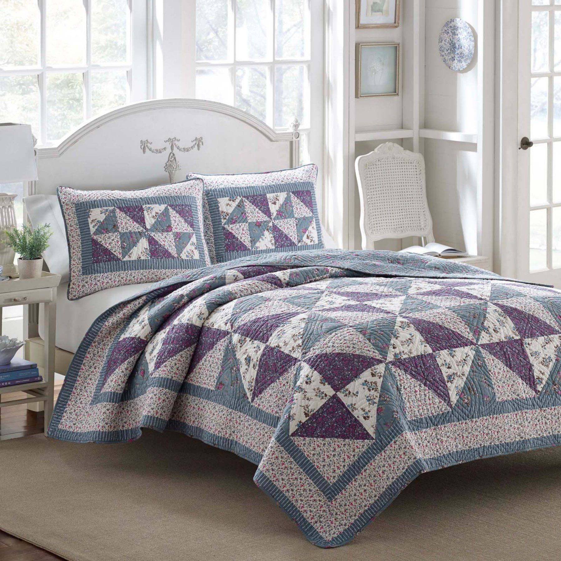 Selena Cotton Quilt by Laura Ashley 210438 Bedding
