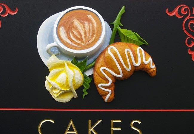 Enchie's Cafe Sign sculpture / Danthonia Designs