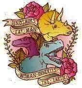 Man Women Inherit The Earth Art Printalso availab Jurassic Park Dinosaurs Eat Man Women Inherit The Earth Art Printalso available as a t shirt This image has get 1 repins...