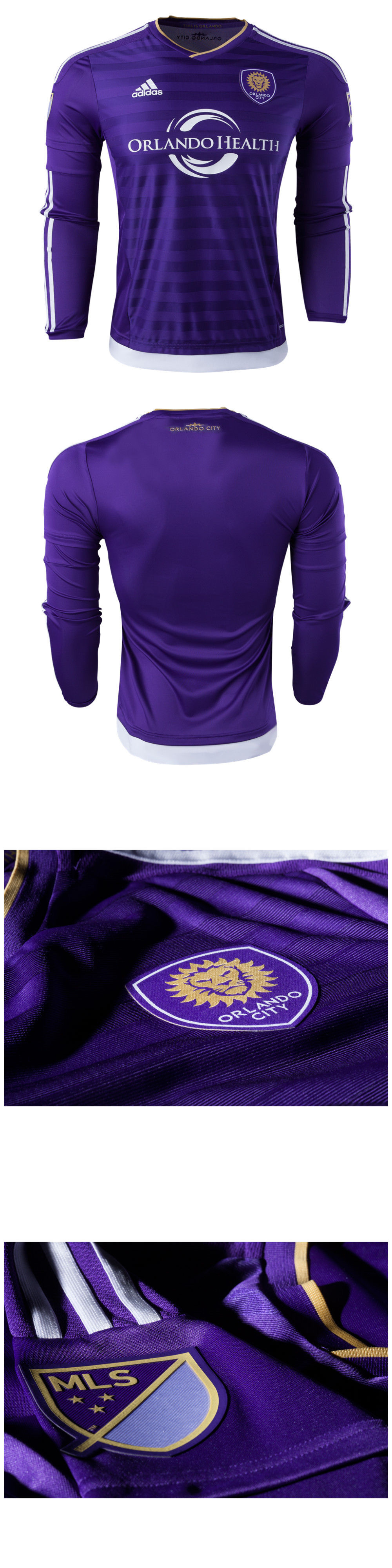 8fa182eef75c ... soccer mls 2888 adidas orlando city long sleeve authentic home soccer  jersey mls size