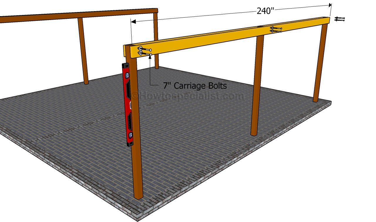 how to build a double carport double carport and cars