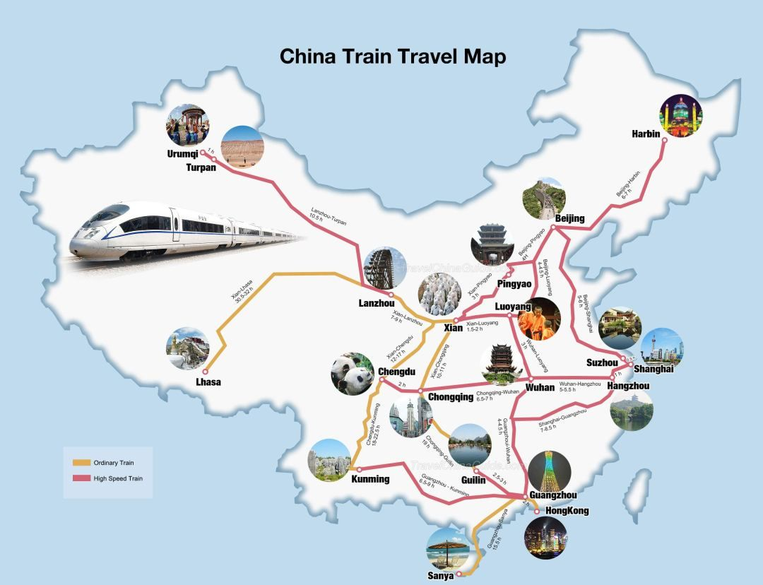 china bullet train map Best Train Routes In China China Train China Travel china bullet train map