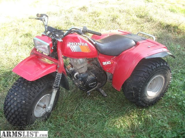 for sale honda 3 wheeler atc 200m runs rides all day. Black Bedroom Furniture Sets. Home Design Ideas