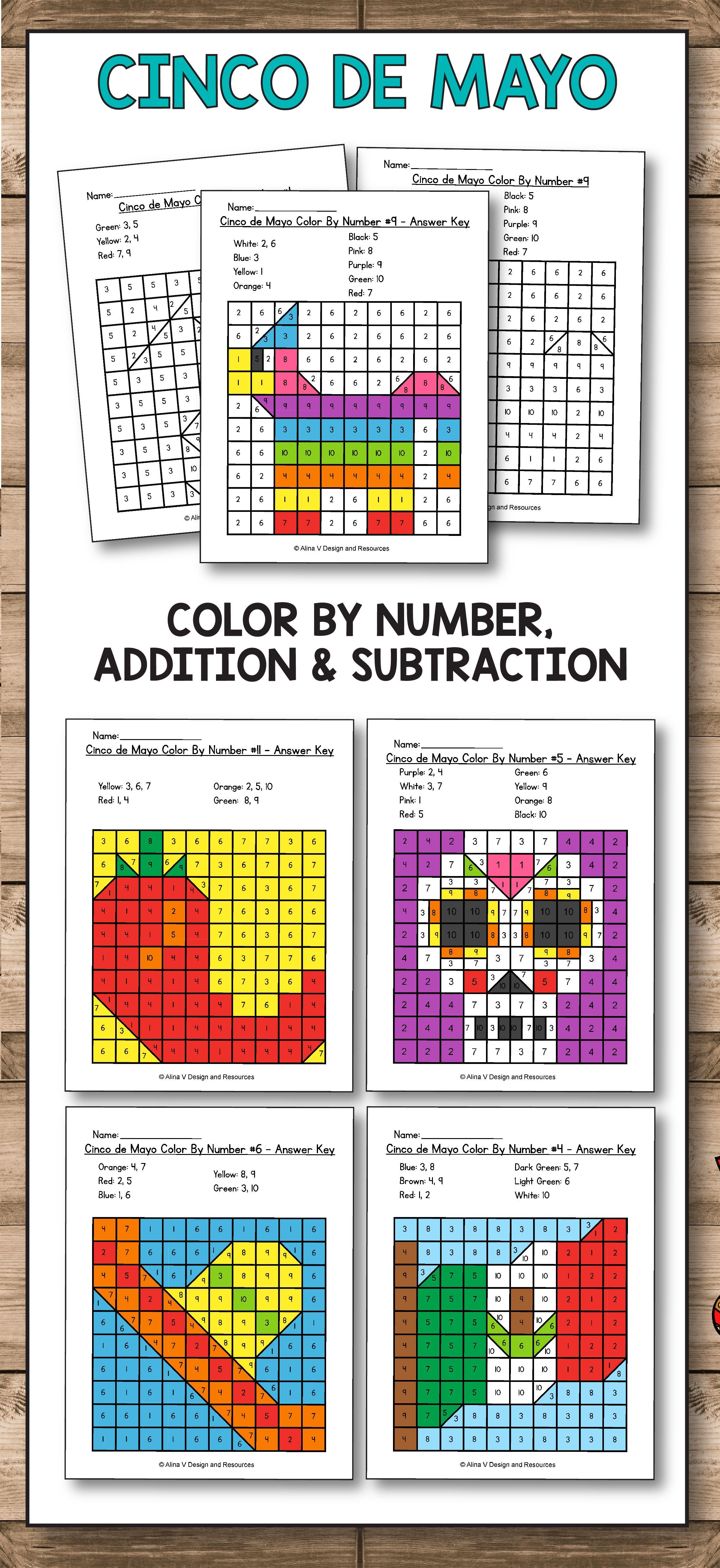 Cinco De Mayo activities and worksheets for preschool [ 5223 x 2400 Pixel ]