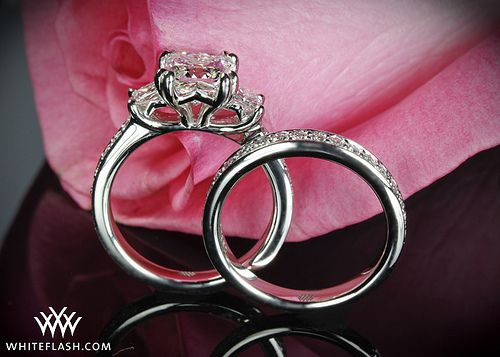Three Stone Platinum Princess Diamond Engagement Ring | Flickr
