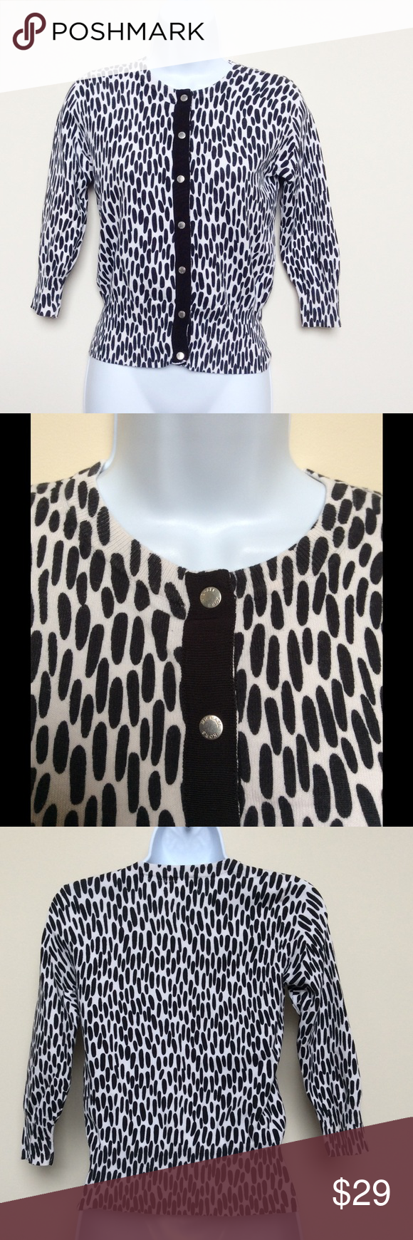 Michael Kors Black and White XS Cardigan Chic and sophisticated ...