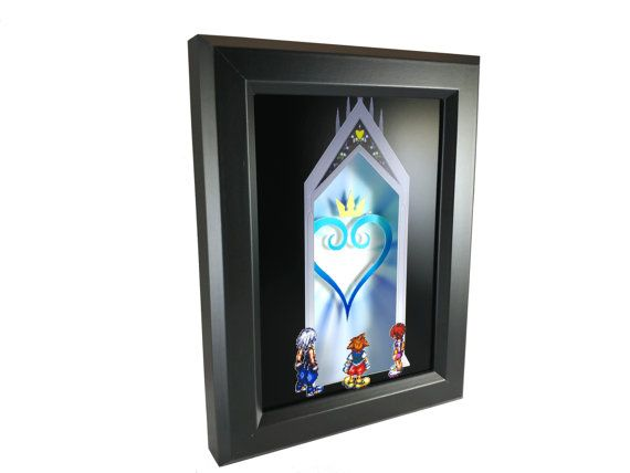 Kingdom Hearts Door To Darkness Shadow Box By Decor8bitart On Etsy