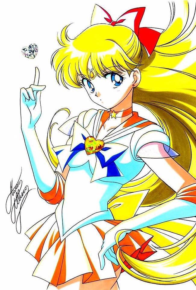 Pretty Soldier Sailor Moon Sailor Venus Minako Aino Mina SuperS Cosplay Costume
