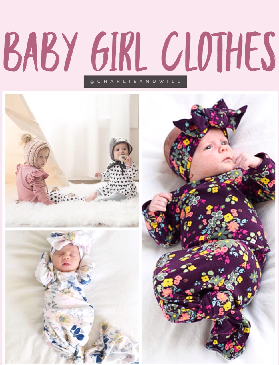 Adorable + unique baby girl clothes. Newborn baby coming home