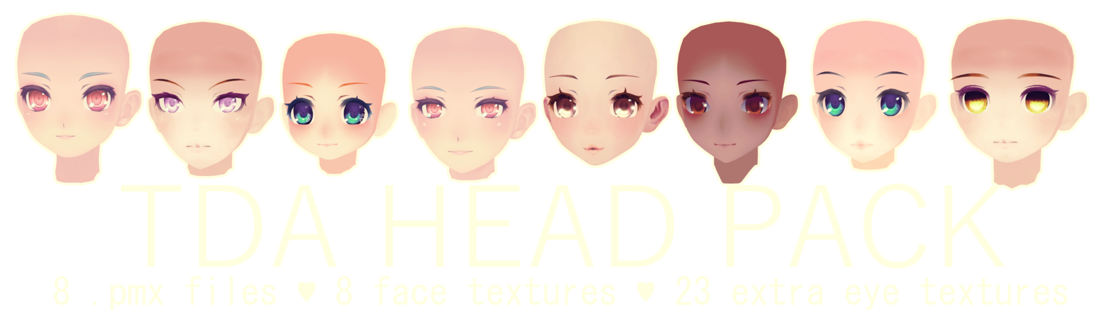 TDA HEAD PACK DL by kreifish deviantart com on @DeviantArt