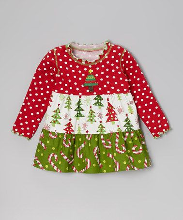 Take a look at this Red & White Candy Cane Swing Top - Toddler & Girls by Baxter & Beatrice on #zulily today!
