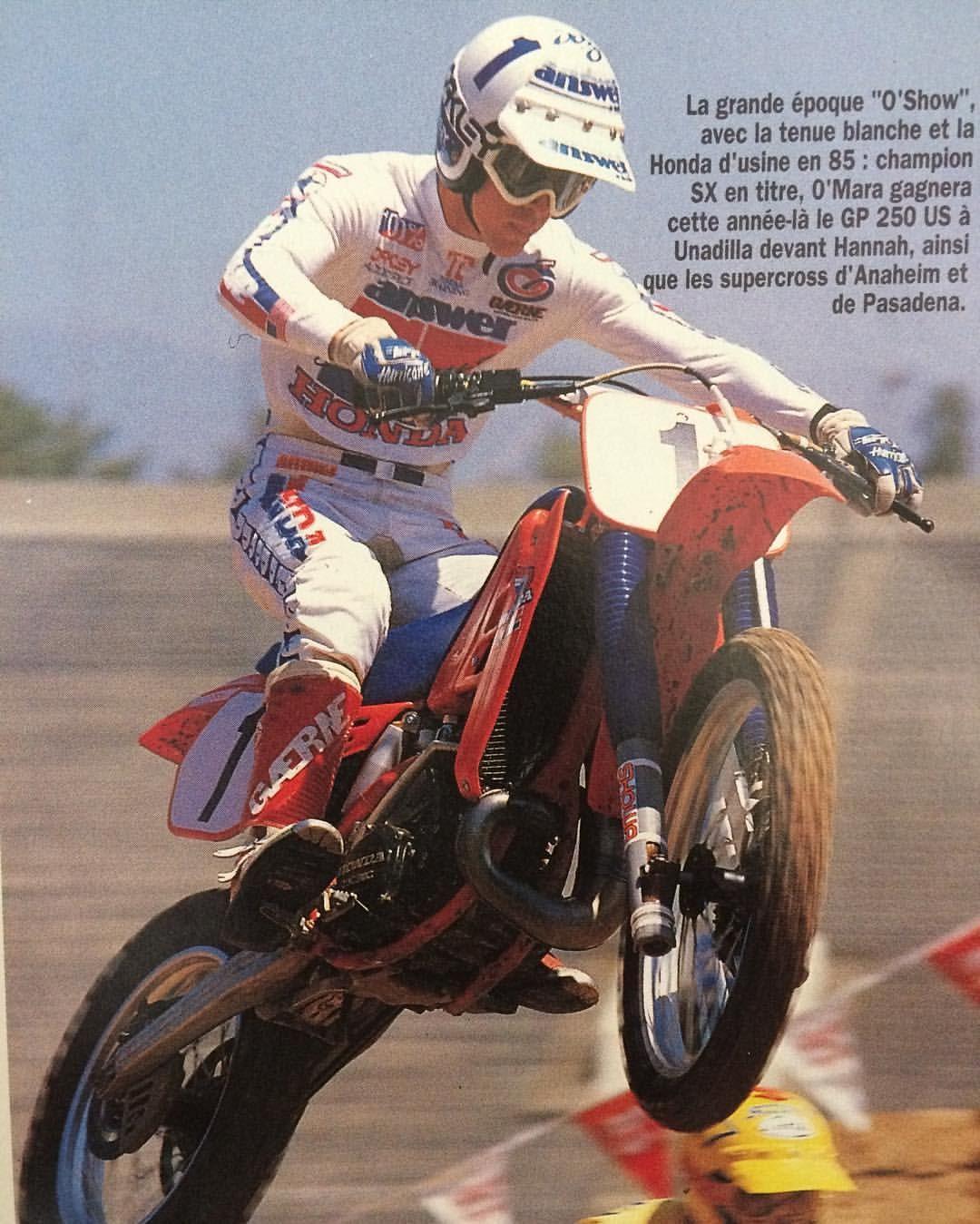 1985 Honda 250 Works Johnny O Mara Great Season And Career Teamhondahrc Johnnyomara Oshow1 Answerv Le Damien Vu Vintage Motocross Motocross Motocross Bikes