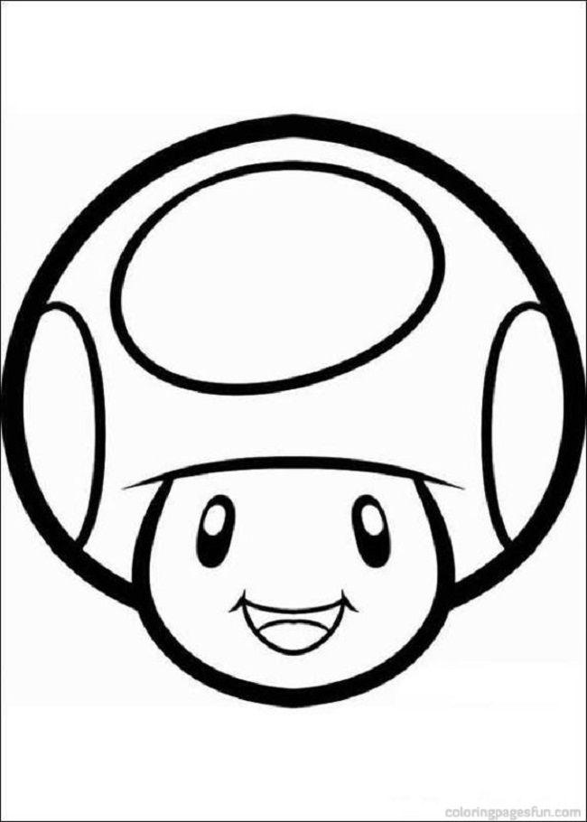 Kleurplaten Mario Kat.Toad Mushroom Color Page Silhouette Kleurplaten