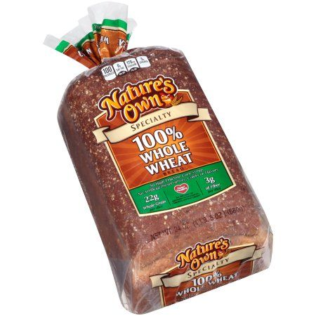 Nature's Own® Specialty 100% Whole Wheat Bread 24 oz  Loaf Pack
