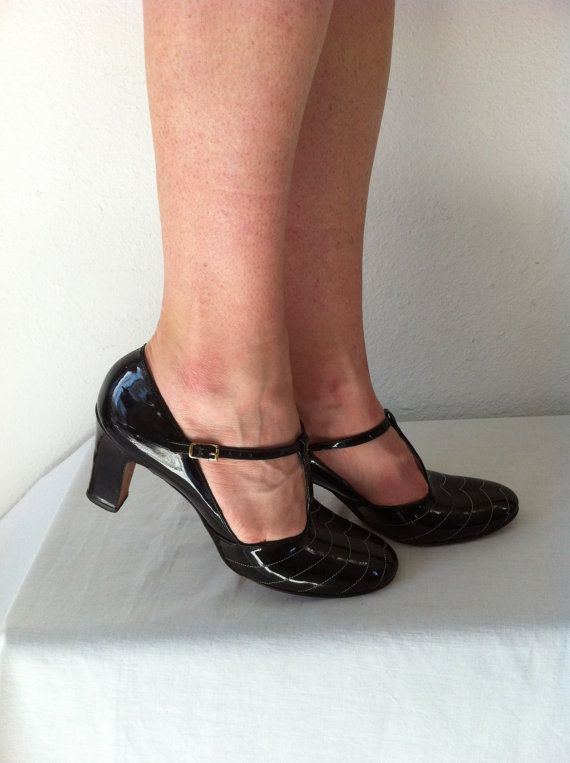 platform shoes / platform mary janes / by ResurrectingVintage, $70.00