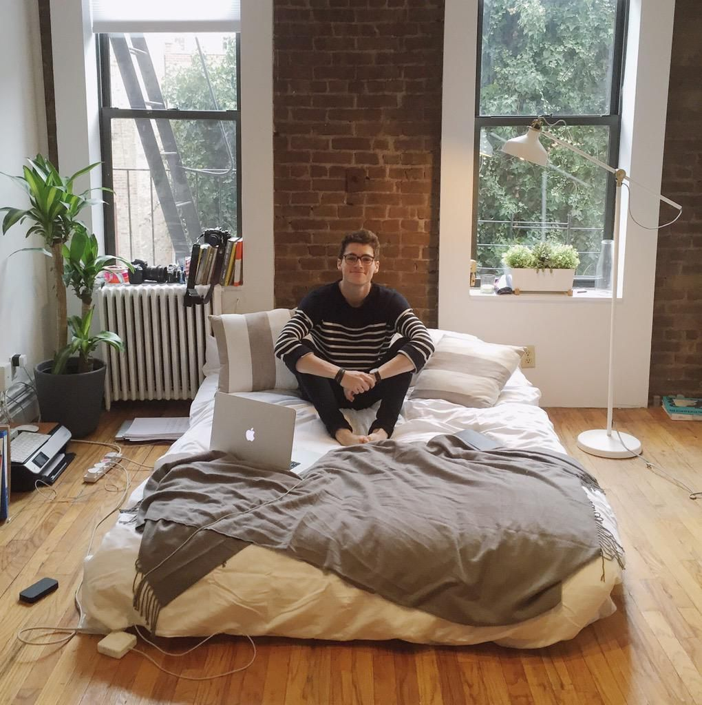 Finn Harries's apartment.  New York living.