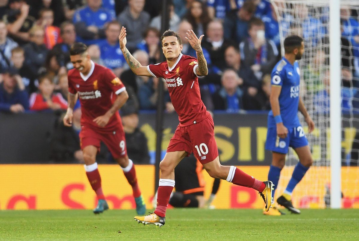English Premier League Philippe Coutinho Sink Leicester City Liga Inggris Inggris Leicester
