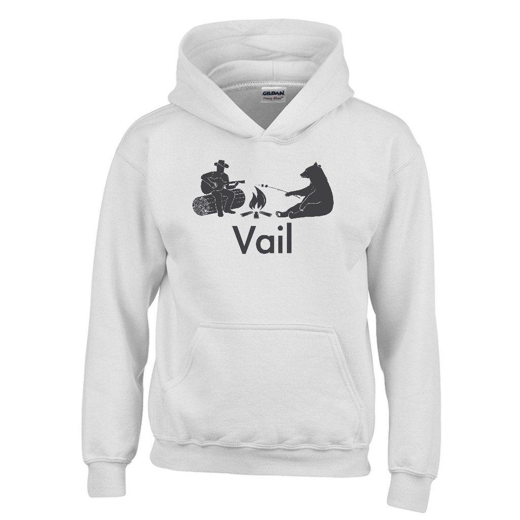 Vail Campfire & Bear - Colorado Youth Hoodie/Sweatshirt