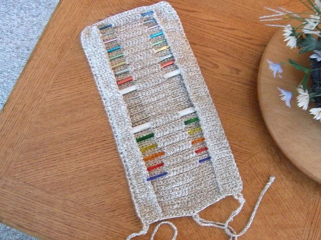 Afghan Hooks Cro Hooks Or Knitting Needle Roll Pattern By Priscilla