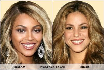 Beyonce And Shakira Well Maybe Somewhat Fraternal Twins Fraternal Twins Shakira Twins