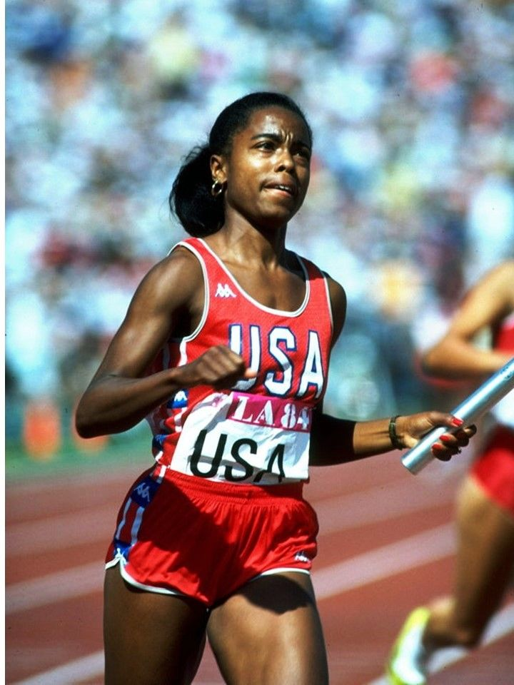 Evelyn Ashford won gold medals for the USA in the 100 meters sprint and 4 x