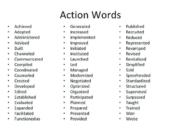 Cover Letter Ideas Action Words Matter Within Your Cover Letter Just Like They Matter For Your Resume Verbs Cover Letter For Resume Resume Action Words