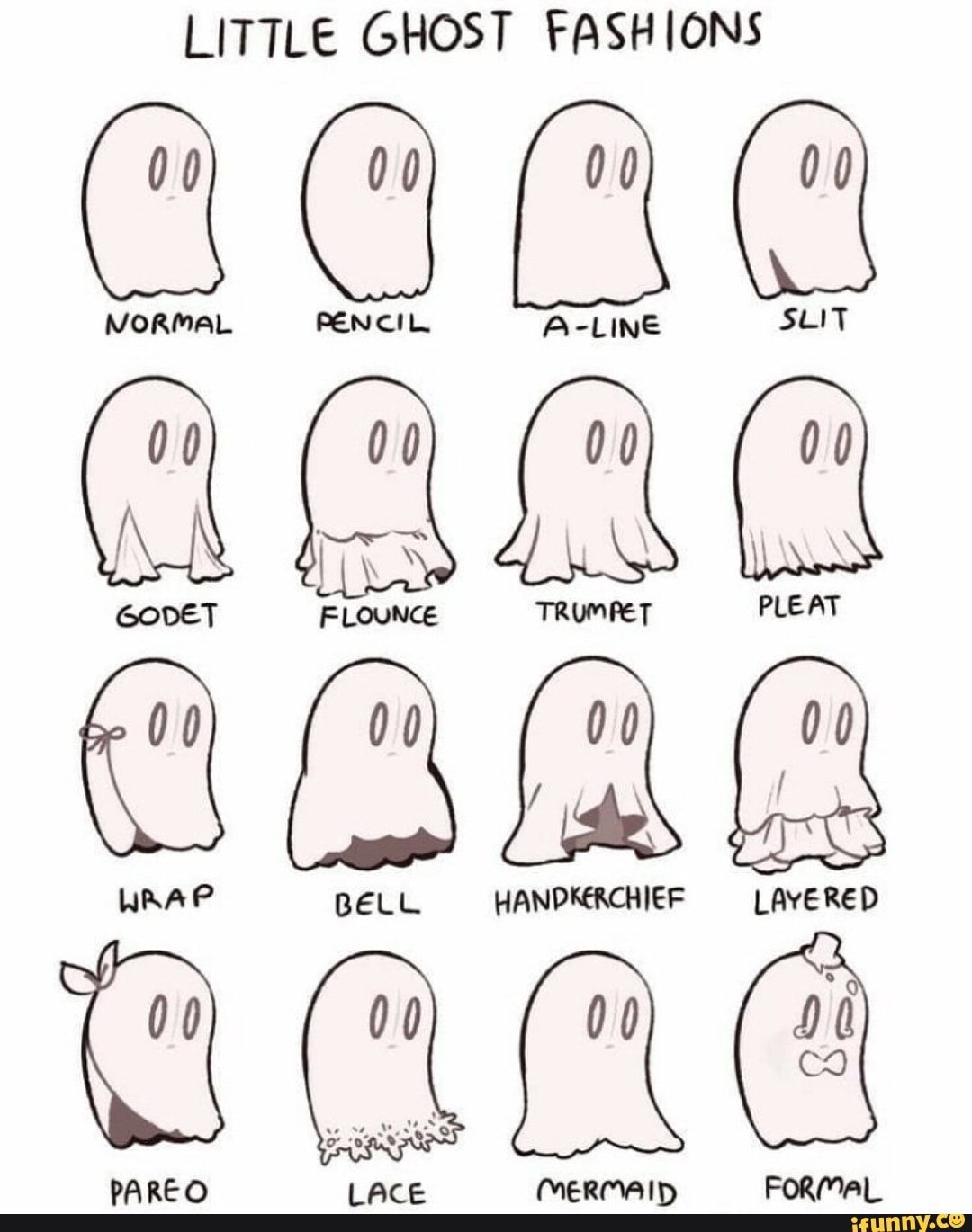 Little Ghost Fash Ions Ifunny Cute Drawings Drawing Tips Cute Art