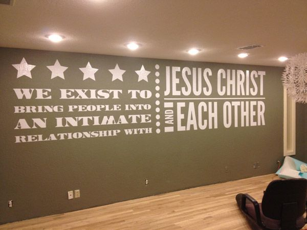 Foyer Office Quotes : Church wall wrap professionally done by our amazing austin