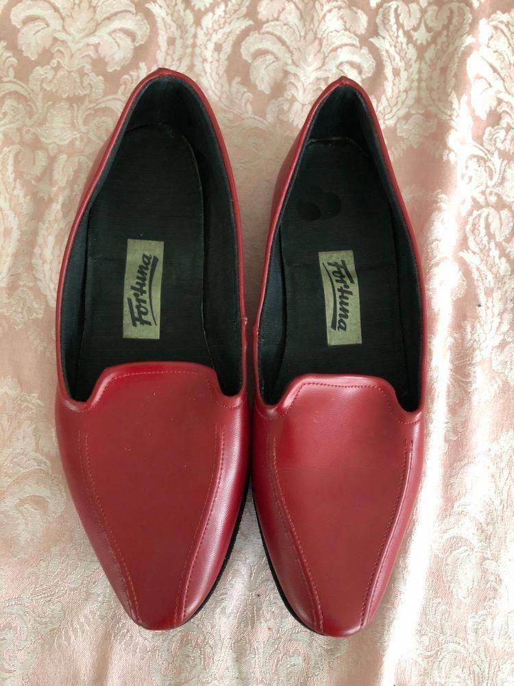 237e41feded1 WOMEN SHOES - FORTUNA 9 M RED LEATHER SLIPPER 1 2