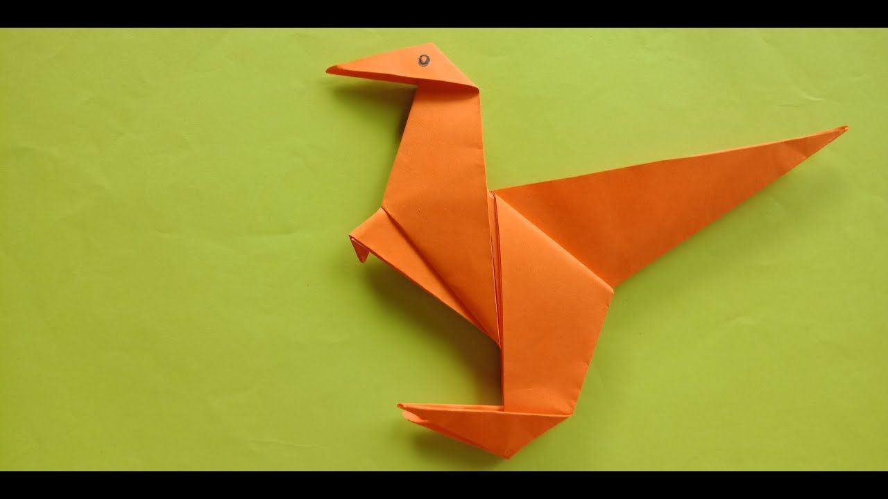 Photo of Origami an easy dinosaurs by paper