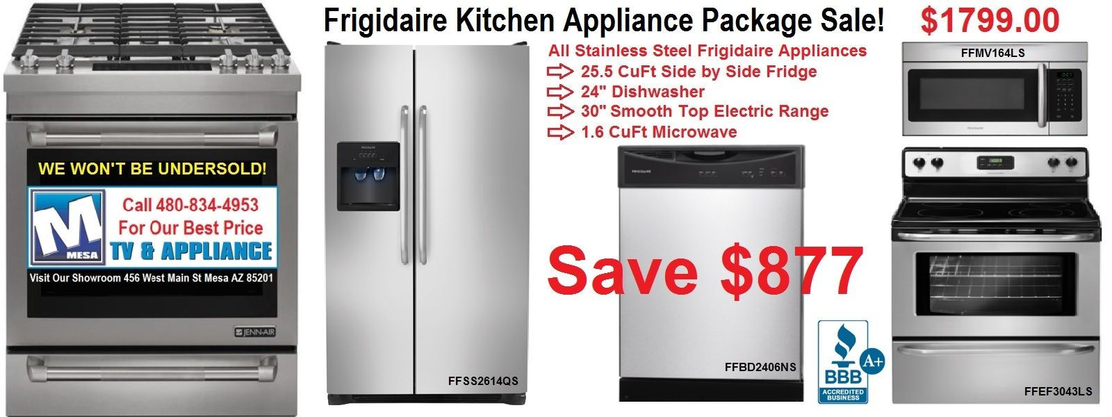 Stop in our Discount Appliance showroom: 456 West Main St. Mesa, AZ ...