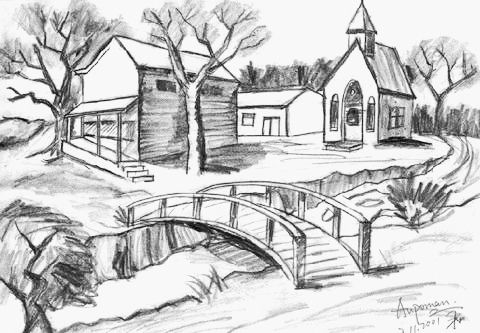Pencil shading pencil sketching pencil art basic drawing drawing tips drawing ideas nature sketch pencil sketches of nature scenery drawing pencil