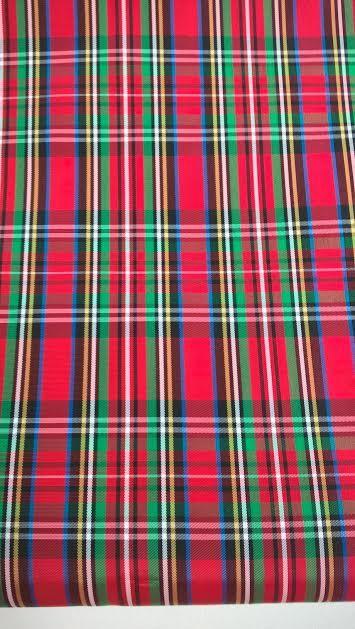 Red Tartan Taffeta, Red Plaid Fabric, Christmas Fabric, By the Half