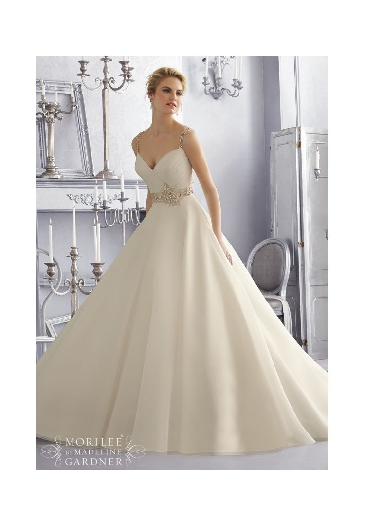 Wedding dresses and wedding gowns by morilee featuring crystal