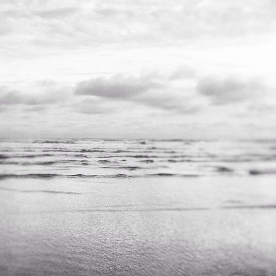 Muted Minimalist Ocean Photography Print Fine Art Gray Silver Waves Landscape Photography Print Ocean Art Nautical Silver Shores Ocean Photography Beach Photography Ocean Art