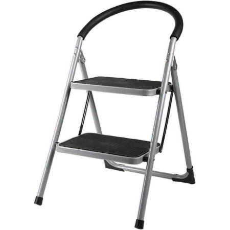 Sensational Home Basics 2 Step Deluxe Ladder Products In 2019 Metal Caraccident5 Cool Chair Designs And Ideas Caraccident5Info