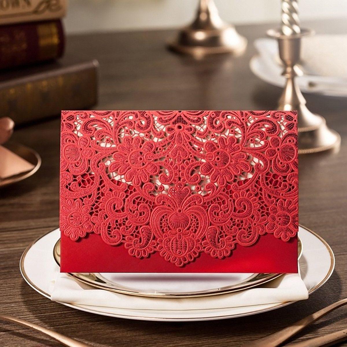 Red Wedding Invitations Australia, Chinese Wedding Invitations Laser ...