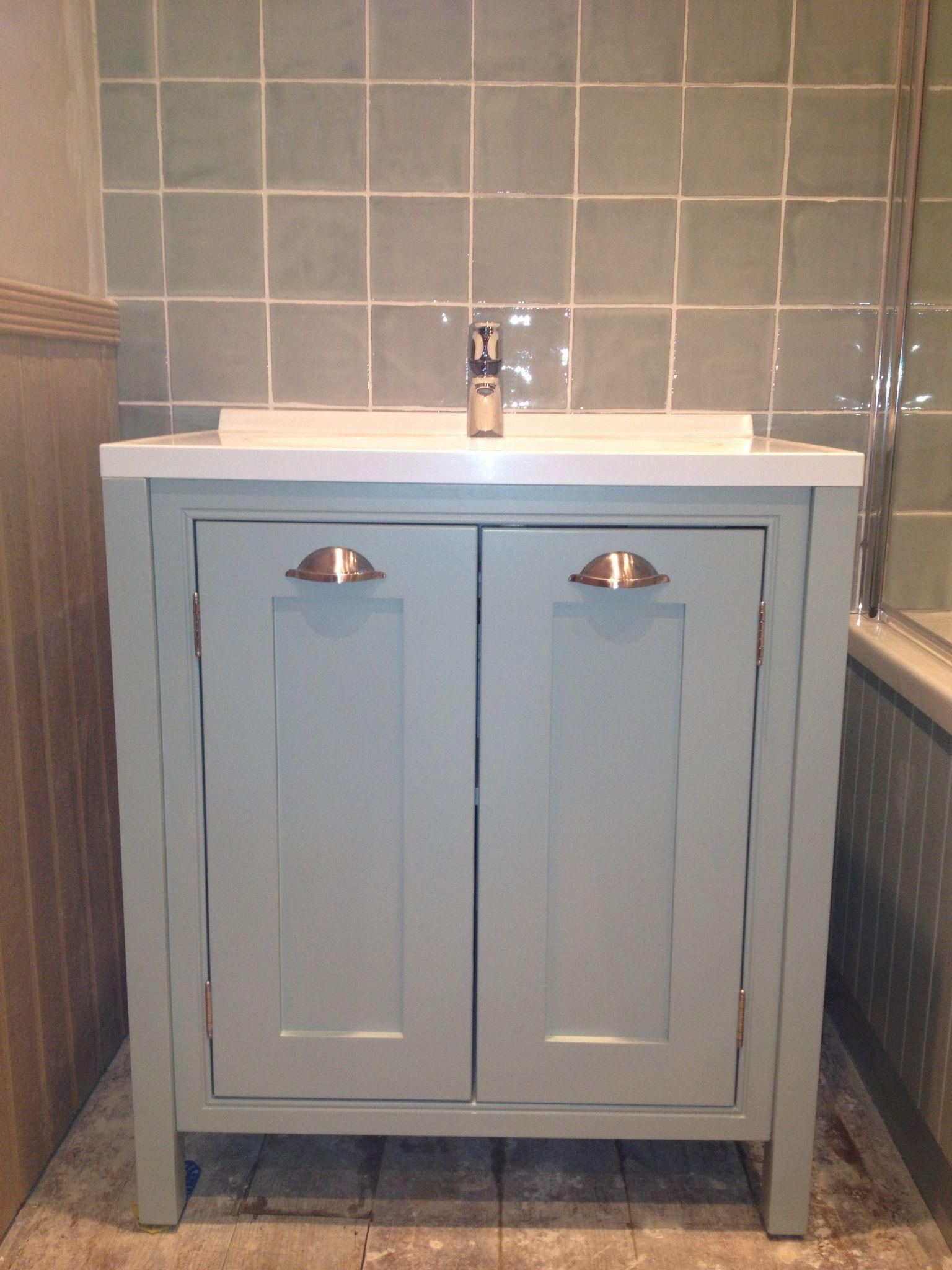 Hand painted bathroom vanity - Hand Painted Vanity Unit
