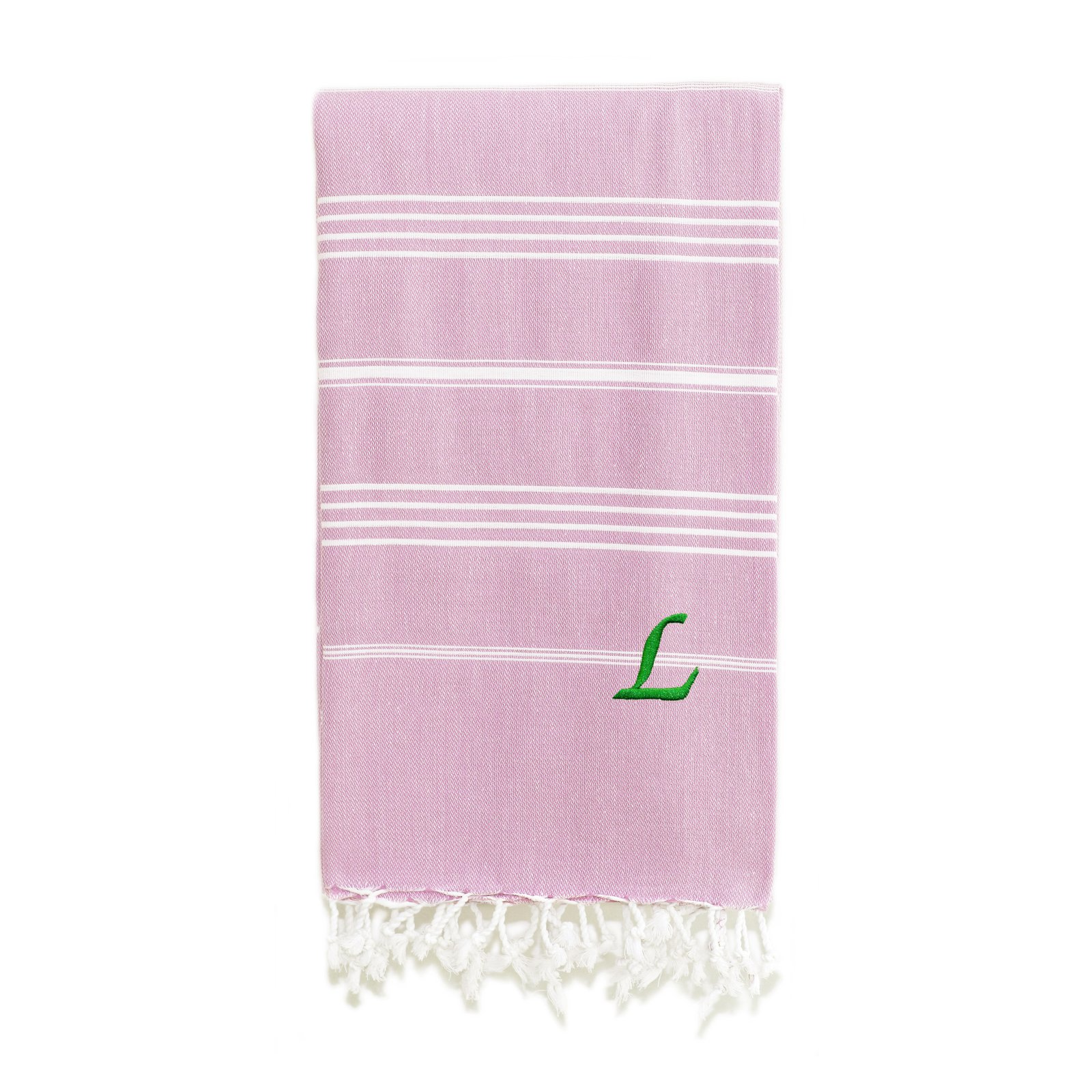 Linum Home Textiles Lucky White Striped Pestemal Turkish Cotton