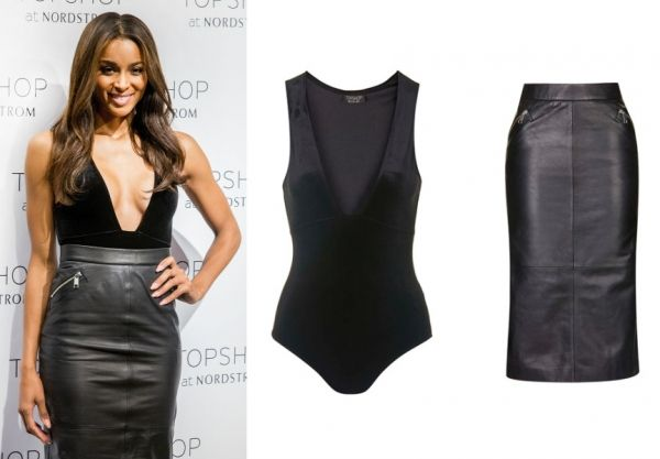 Topshop Ambassador Ciara Shows Off Sexy Velvet Bodysuit Leather ...