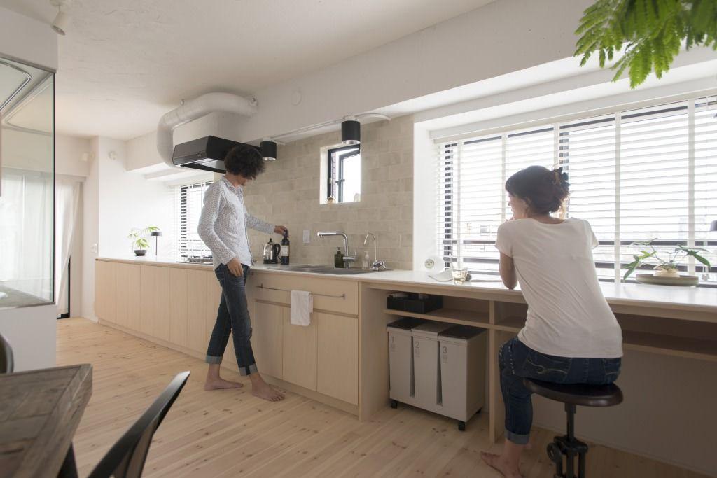 壁付けのオープンキッチンは 6m 料理はもちろん 収納 ワーク