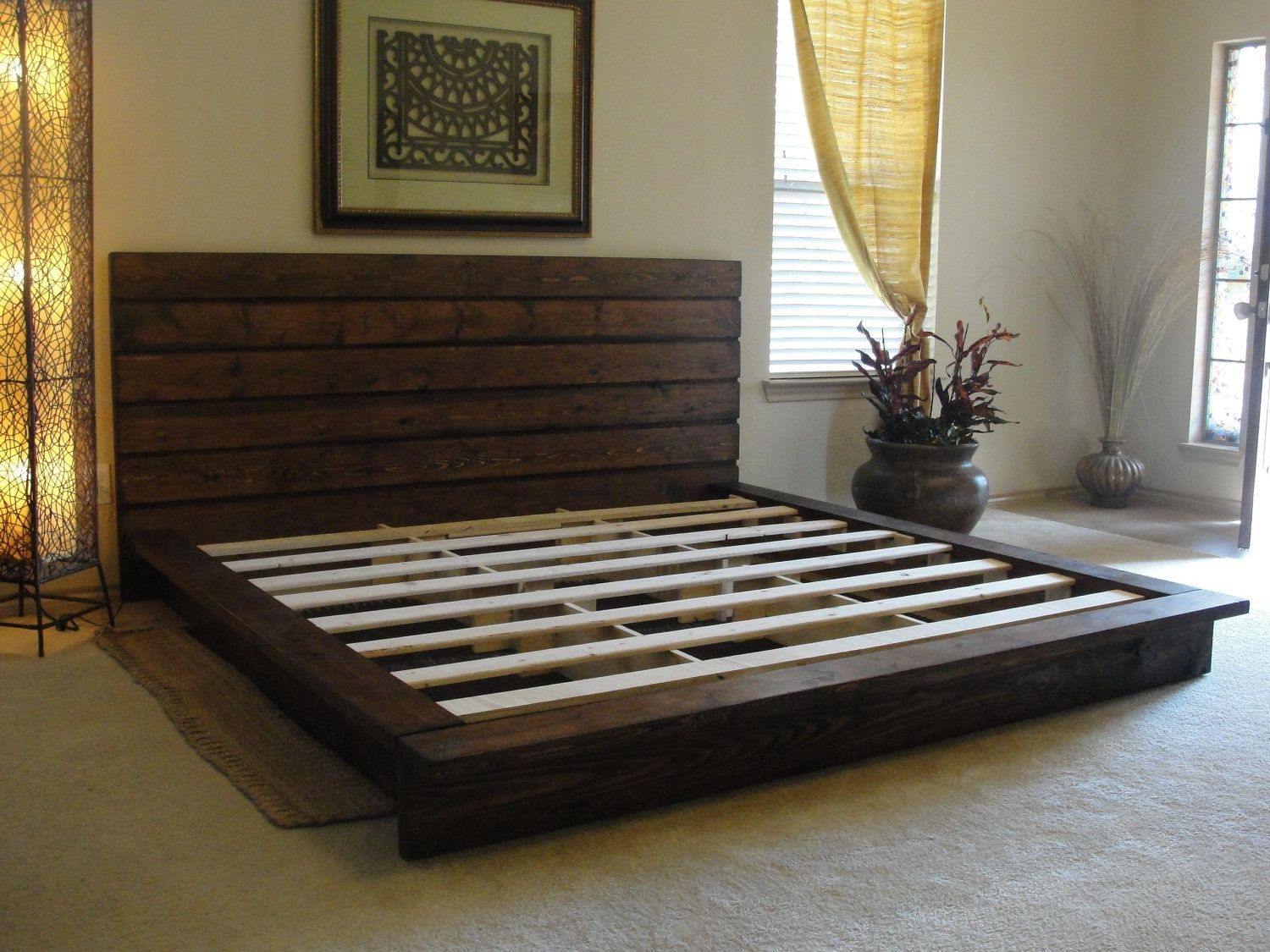 KING size rustic bed by ArtisanWood11 on Etsy, $1,350.00 | Ahşap ...