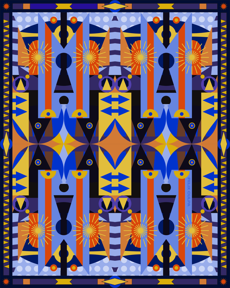 Keys to knowledge and perseverance by FELIX CULPA #art #graphics #graphicart #abstract #geometric